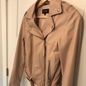 Dusty pink Mackage lambskin leather jacket